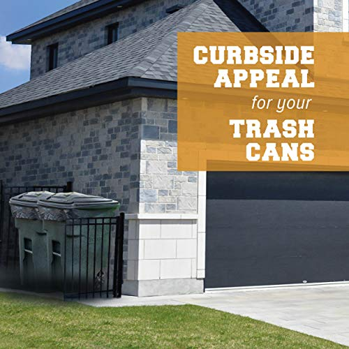 """Plasticplace 95-96 Gallon Garbage Can Liners │ 1.2 Mil │ Black Heavy Duty Trash Bags │ Rolls │ 61"""" x 68"""" (15 Count)"""