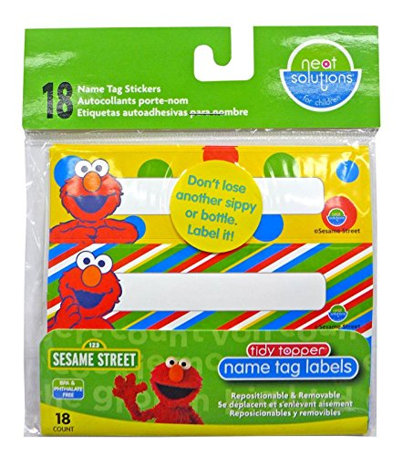 Neat Solutions Cup Label Stickers - Sesame Street - 18 (Street Tags)