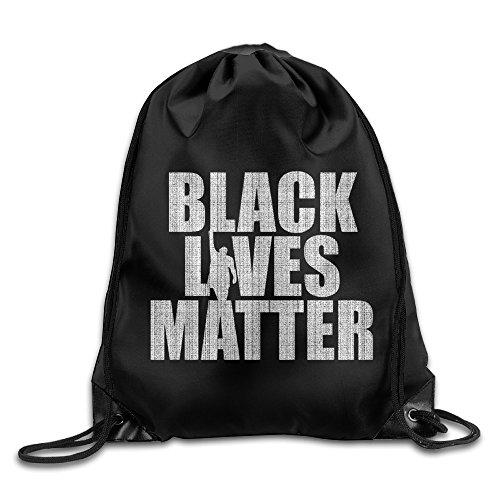 Unisex Black Lives Matter Sports Drawstring Backpack Bag