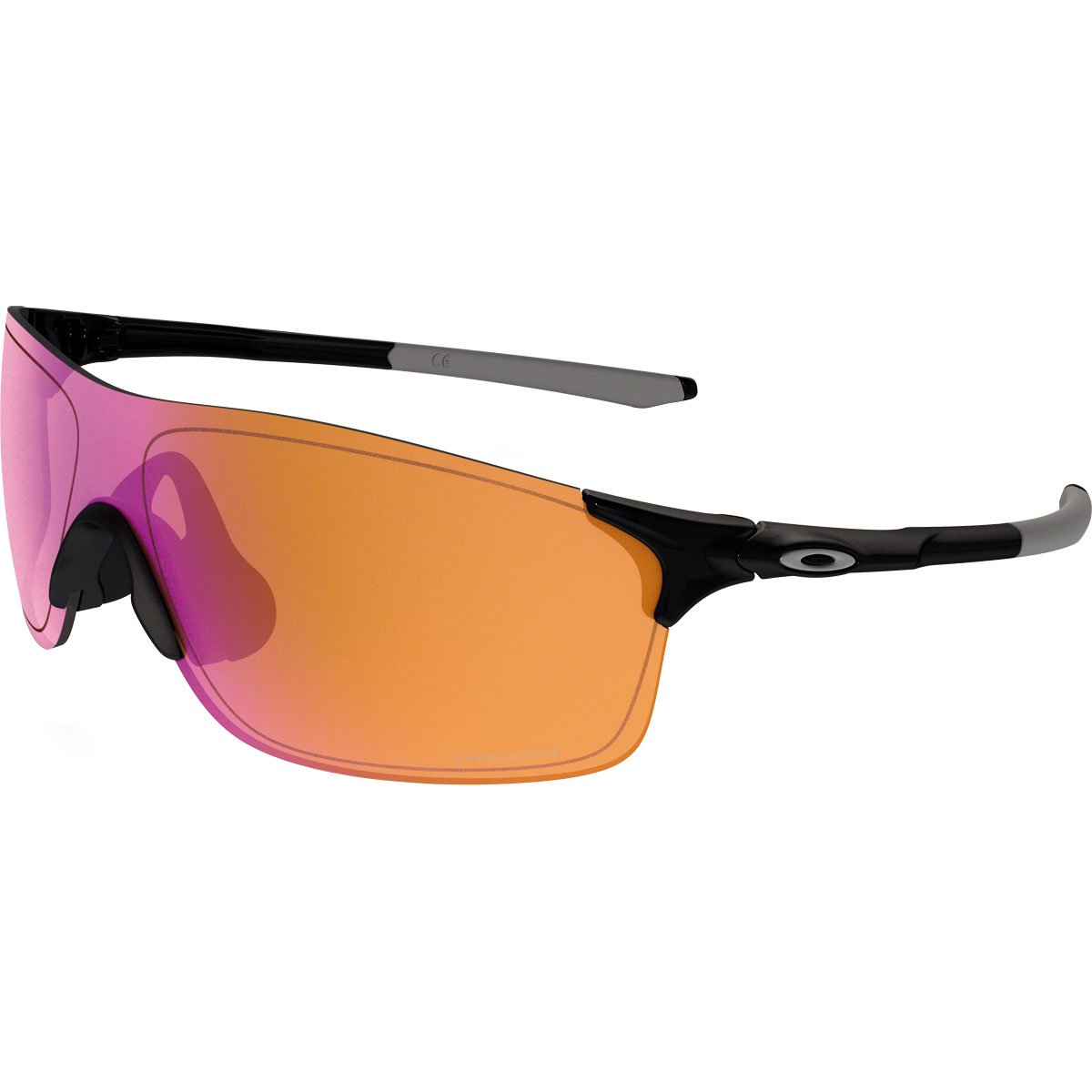 Oakley Men's Evzero Pitch Non-Polarized Iridium Rectangular Sunglasses, Polished Black, 38 mm