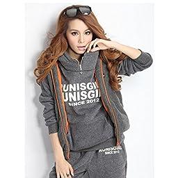 YR-LIN Women\'s Sport Suit 3PCS Active Sets 3PCS Hoodies Tracksuit Sweatsuits