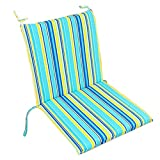 Soft Home/Office Seat Cushion High Back Chair Cushion Fashion Stripe,Blue