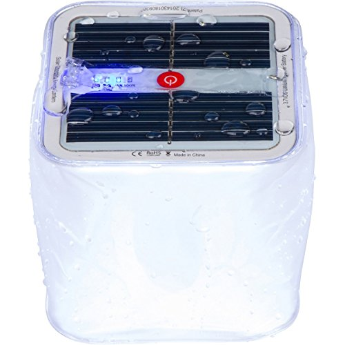 Terra Friendly Floating Solar LED Pool Party Light ~ Multipurpose, Waterproof, Inflatable Lantern with Battery Level Indicator.
