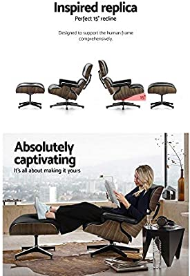 Miraculous Artiss Eames Lounge Armchair And Ottoman Wooden Frame Ncnpc Chair Design For Home Ncnpcorg