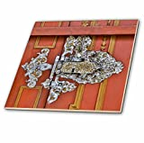 3dRose Danita Delimont - Architecture - Germany, Dinkelsbuehl, Door Hinge - 6 Inch Glass Tile (ct_277397_6)