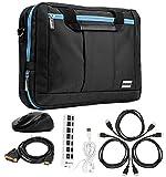 Aqua Hybrid Bag & Wireless USB Mouse & 3 HDMI Cables & DVI Dual Link & 7 Port USB for Acer 10''-12''