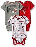 Gerber Childrenswear NFL Tampa Bay Buccaneers Boys Short Sleeve Bodysuit (3 Pack), 3-6 Months, Red