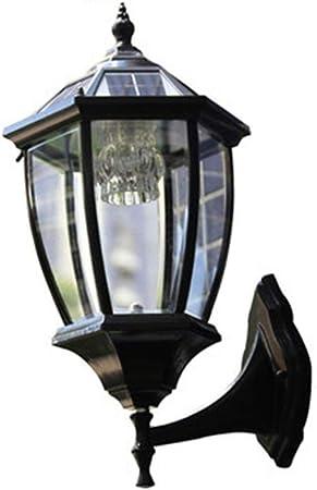 Zhong$chuang Aplique de Exterior Retro Vintage luz de jardín - Negro - Bombilla de filamento LED, Aplique de Pared Simple (Color : Black): Amazon.es: Hogar