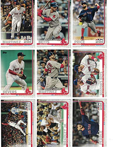 Red Topps Boston Baseball Cards Sox - Boston Red Sox/Complete 2019 Topps Series 1 Baseball Team Set! (16 Cards) Includes 25 bonus Red Sox Cards!