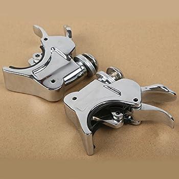 Black 2 X Bracket, 4 X fits fork XMT-MOTO Gauntlet Fairing Black Trigger Lock Mount Kit fits for Harley Davidson 1988-later XL,1986-1994 FXR and 95-05 Dyna models