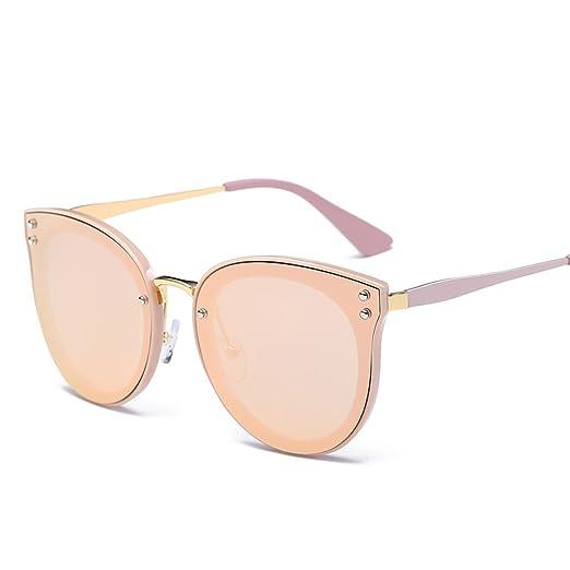 WKAIJC Mode Mode Persönlichkeit Kreativität Raffiniert Bequem Retro Männer Und Frauen Sonnenbrillen,D
