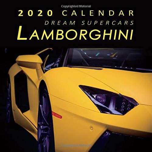 2020 Calendar Dream Supercars Lamborghini  2020 Monthly Calendar With USA Holidays And Observances Full Color Photos Supercars Calendar Automobile Calendar