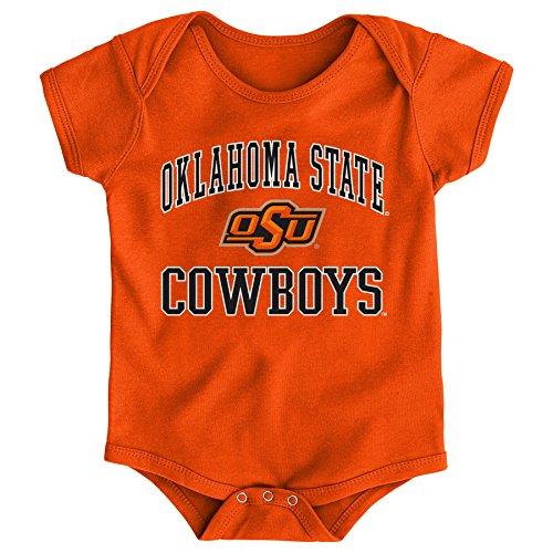 Gen 2 NCAA Oklahoma State Cowboys Newborn & Infant Primary Logo Bodysuit, 6-9 Months, Orange