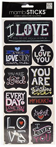 (me & my BIG ideas mambiSTICKS Stickers, Love)