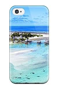 Tpu Fashionable Design Bora Bora Rugged Case Cover For Iphone 4/4s New