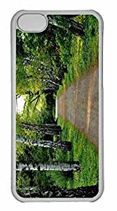 iPhone 5C Case, Personalized Custom Tree Lined Dirt Road for iPhone 5C PC Clear Case