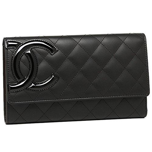 シャネル カンボンライン 長財布(ファスナー式小銭入れ付き) A46645