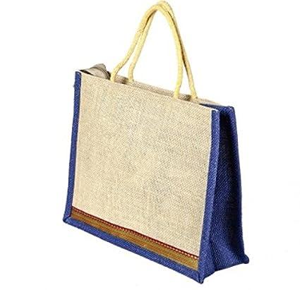 2d6557a0d Indian Stallion Trendy Multicolor One Jute Bag (Various colors)  Plain Bag  with different colors  Amazon.in  Bags