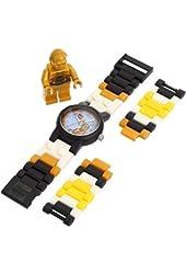 LEGO Kids' 9002960 Star Wars C3PO Plastic Watch with Link Bracelet and Figurine