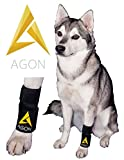 Agon Dog Canine Brace Paw Compression Wrap with 2 Straps, Small/Medium
