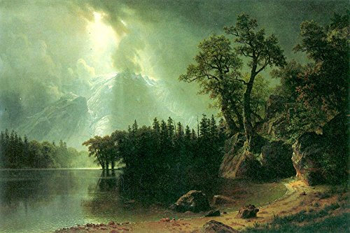 The Museum Outlet - Storm over the Sierra Nevada by Bierstadt - Canvas Print Online Buy (40 X 50 - Outlets Shopping Nevada