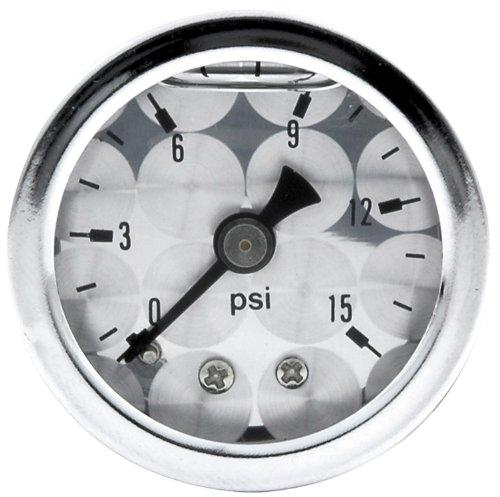 Allstar Performance ALL80220 0-15 PSI Engine Turned Shockproof Pressure Gauge