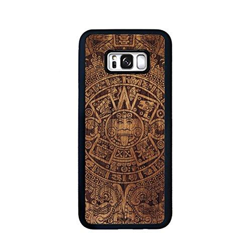 SMARTWOODS Aztec Calendar Dark case for Samsung S8 Plus, Wooden Smartphone case, Wooden Samsung case, eco-Friendly and Natural, Original ()
