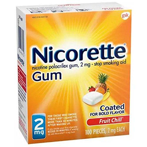Fruit Chill Flavor - Nicorette Gum 2mg Fruit Chill - 20 Ea, Pack of 3