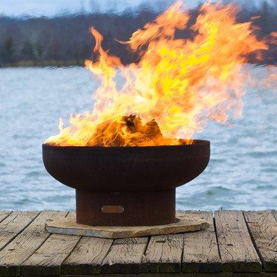 Fire Pit Art LB Low Boy 36'' Fire Pit NG, Metal by Fire Pit Art
