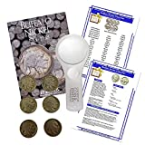 Buffalo Nickel Starter Collection Kit, H.E. Harris [2678] Buffalo Nickel Folder 1913-1938, Six Buffalo/Indian Nickels, Magnifier and Checklist, (9 Items) Great Start for Beginner Collectors