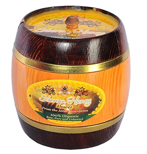 Siberian Flower Honey-100% Raw, Pure, Organic, NON-GMO, Unheated, Unprocessed (Pesticide, Antibiotic & Gluten FREE) - 1LB by Siberian Honey
