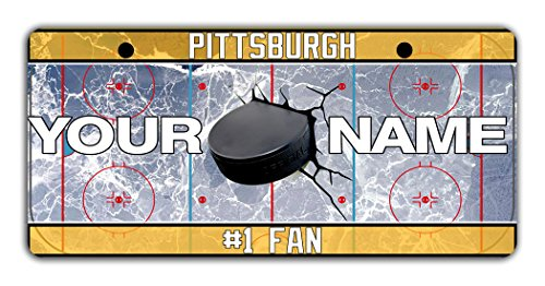 BleuReign(TM) Personalized Custom Name Hockey Team Pittsburgh Bicycle Bike Moped Golf Cart 3