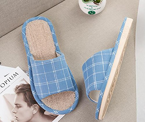 Gray Chaussons Hommes 45 Femmes Maison 46 Blue Chaussons Slip Non Open Mou Tongs Fond SHANGXIAN Casual Toe Unisexe 6OwZAq55
