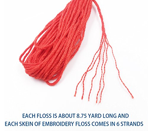 a29f324861385 Embroidery Floss Cross Stitch Thread - 100 Skeins Per Pack Premium ...