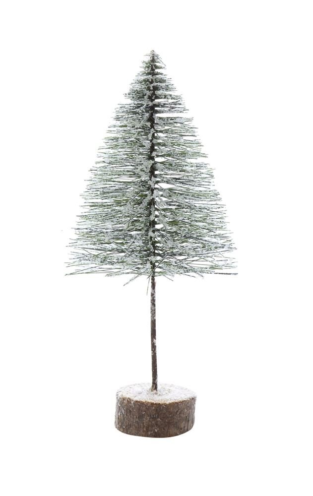Heart of America Artificial Tree On Wood Slice Base Green - 3 Pieces