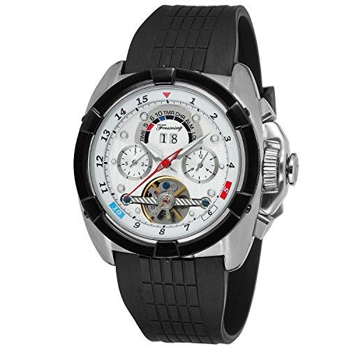 Forsining Mens Automatic Self-winding Calendar Brand Leather Strap Wrist Watches FSG291M3T4