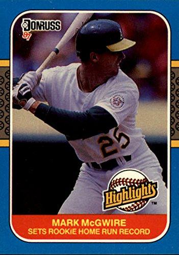 Mark Mcgwire Card - 1987 Donruss Highlights #27 Mark McGwire RC Rookie Card