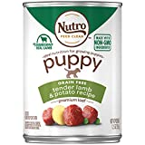 NUTRO PUPPY High Protein Natural Wet Dog Food Premium Loaf Tender Lamb & Potato Recipe, (12) 12.5 oz. Cans