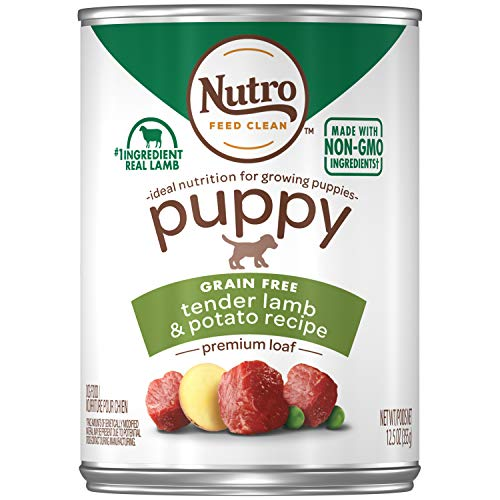 NUTRO PUPPY Canned Natural Wet Dog Food Premium Loaf Tender Lamb & Potato Recipe, (12) 12.5 oz. Cans (Best Dry Food For Shar Pei Puppy)