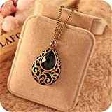 New Women Jewelry Gold Long Chain Pendant Bib Crystal Vintage Statement Necklace#by pimchanok shop (Crystal)