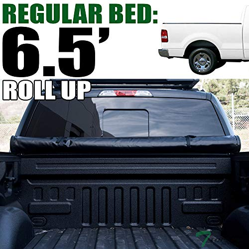 (Topline Autopart Lock Roll Up Soft Vinyl Truck Bed Tonneau Cover For 04-14 Ford F150 ; 06-08 Lincoln Mark LT 6.5 Feet (78