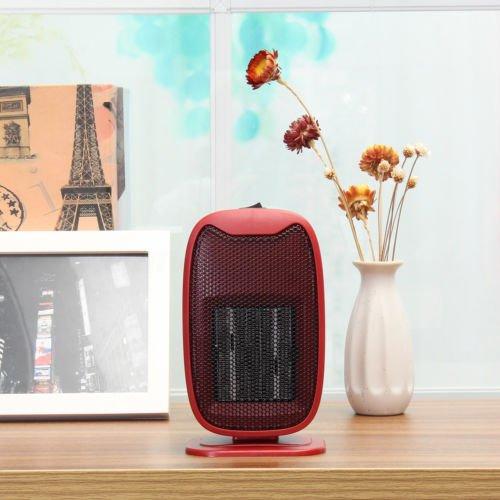 220V 500W Portable Mini Electric Handy Air Radiator Heater Warm Blower Room (Red)