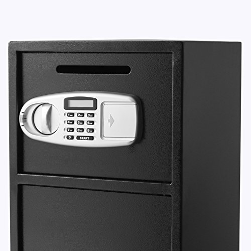 OrangeA Depository Safe Double Door Digital Depository Drop Safe with Drop Slot Safe Cash Drop Box for Home and Office Security by OrangeA (Image #5)