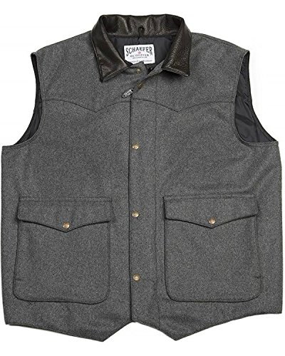 - Schaefer Outfitters Men's 713 Wool Cattleman Vest Charcoal Medium