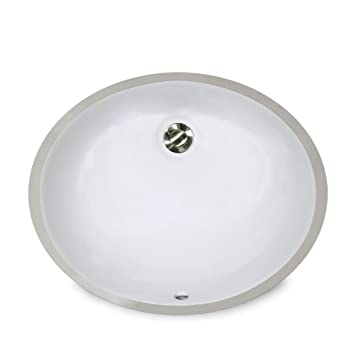 Nantucket Sinks Um 15x12 W 15 Inch By 12 Inch Oval Ceramic