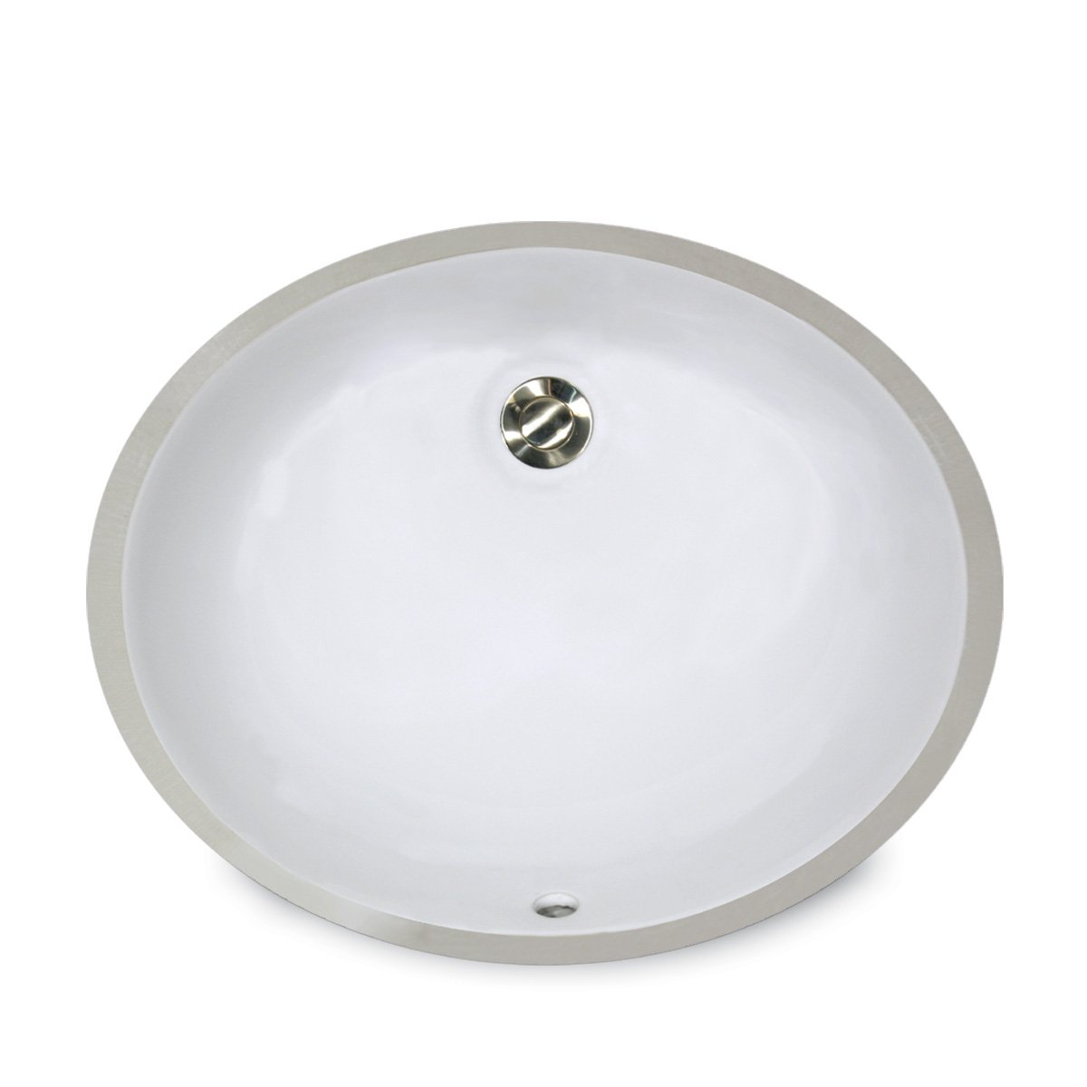 Nantucket Sinks UM-15x12-W 15-Inch by 12-Inch Oval Ceramic Undermount Vanity Sink, White by Nantucket Sinks