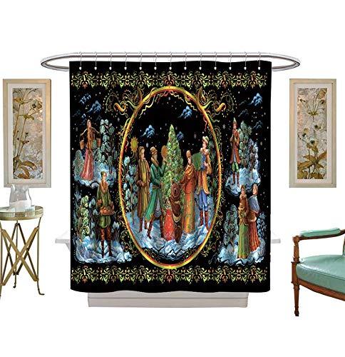 Shower Curtains 3D Digital Printing National Christmas Celebrations,Dances,Songs