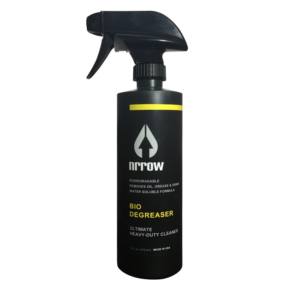 Nrrow - BIO DEGREASER, 16oz - Biodegradable Heavy-Duty Bike Chain and Drivertrain Degreaser for MTB, Road Bikes, Cyclocross and BMX