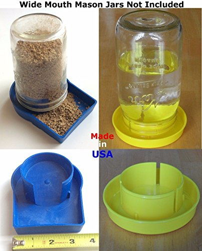 (1pk) Chick Feeder & (1pk) Drown Proof Waterer Poultry Gamefowl Chicken Quail