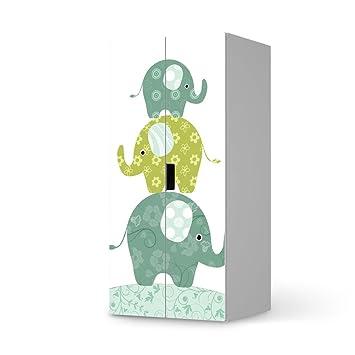 möbel-aufkleber folie für ikea stuva kommode schrank - 2 große ... - Wohnideen Ikea Mbel